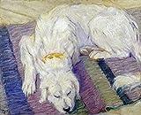 Franz Marc – Liegender Hund - Hundeportrat Kunstdruck (25,40 x 30,48 cm)