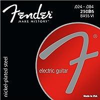 Fender 0734130250Super 250Nickel Plated Steel Guitar Strings–Ball End, 250B6Bass VI Gauges .024.084