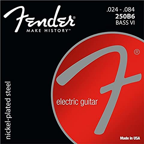 Fender 073 413 0250 Super 250 Nickel Plated Steel Guitar Strings – Ball End, 250B6 Bass VI