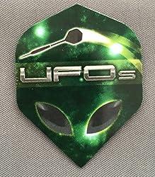 Dutchman UFO Standard Extra Thick Dart Flights (3 Sets of 3 - 9 Flights) (Alien)