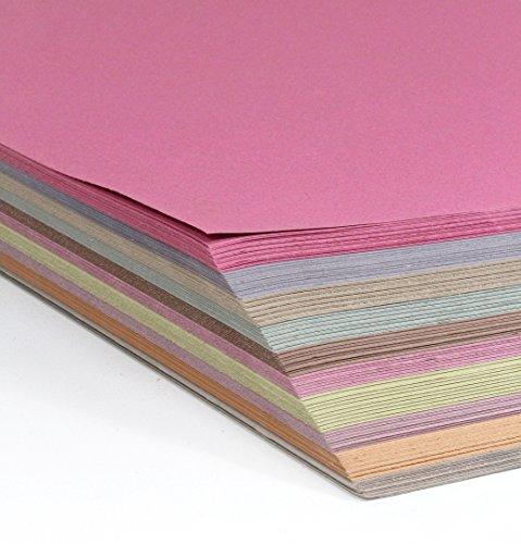 A2 Tonpapier, SPARPACK 250 Bogen in 10 Pastell-Farben sortiert, 140 g/m² sehr stabil