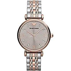 Emporio Armani Damen-Armbanduhr Analog Quarz Edelstahl beschichtet AR1840