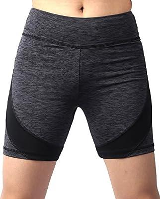 Sugar Pocket Womens Active Gym Workout Shorts Cycling Running Shorts