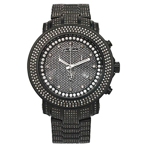 Orologio Joe Rodeo Diamante uomini JUNIOR - Nero 11,5 ctw