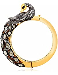 Ahilya jewels Statement Collection .925 Sterling Silver Gold Plated Cuff