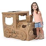 Sportspiele Übergroße Karton Haus DIY Färbung Karton Haus Spielzeug Abnehmbare Montage Papier Spielzeug Kinder Spielhaus Baby Innen Zelt Geschenk (Color : Brown, Size : 70 * 60 * 90cm)
