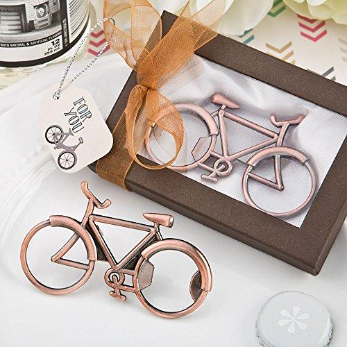 Flaschenöffner, Vintage-Design im Stil eines Fahrrads, kupferfarbenes Metall im Antiklook