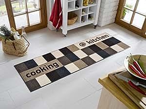 tapis de tr s haute qualit taille env 60 x 180 cm beige marron et k chenmatte bavaria home. Black Bedroom Furniture Sets. Home Design Ideas