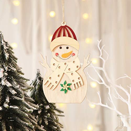 vijTIAN - Piccole Decorazioni Natalizie in Legno da Appendere per la Famiglia e Gli Amici per Natale B