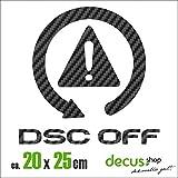 DSC OFF XL 1115 // Sticker OEM JDM Style Aufkleber (Carbon Schwarz)