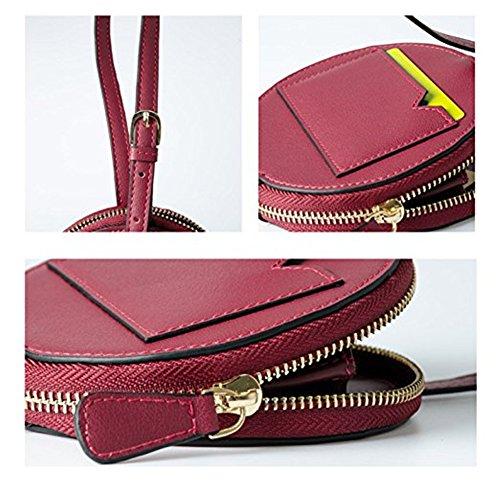 Damen Aktentasche Bürotasche 15.6 Zoll Laptop Tasche in PU-Leder Schwarz (Schwarz) Rot Wein
