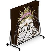 Snowy Owl cardo 20 x tovaglioli di carta a 3 veli   nero verticale cuore  portatovaglioli 215833cd3c3f