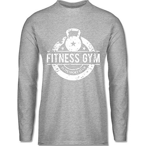 Shirtracer CrossFit & Workout - Fitness Gym Elite Sport Club - Herren Langarmshirt Grau Meliert