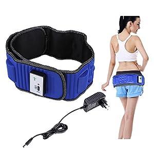 Elektrische vibrierende Taille Massage mit 5 Motoren , Elektrische Taillenmassage Elektrische Vibration Gewichtsverlust Massage Bauch abnehmen Fitness-Massagegürtel, Natürliche Abnehmen Fett Bauch