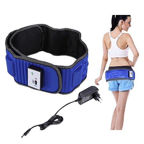 Elektrische vibrierende Taille Massage mit 5 Motoren , Elektrische Taillenmassage Elektrische Vibration Gewichtsverlust Massage Bauch abnehmen Fitness-Massagegürtel, Natürliche Abnehmen Fett Bauch Flü (Flex-gürtel, Arme)