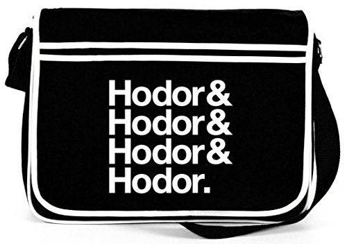 Hodor& Hodor& Hodor& Hodor. Retro Messenger Bag Kuriertasche Umhängetasche Schwarz