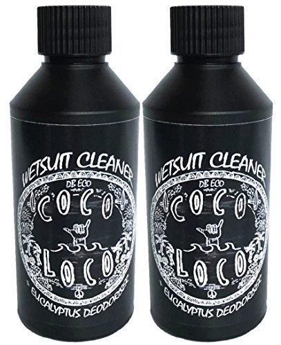 Jabón Coco Loco para limpiar traje de neopreno, con desodorante de eucalipto, de 250 ml, Large