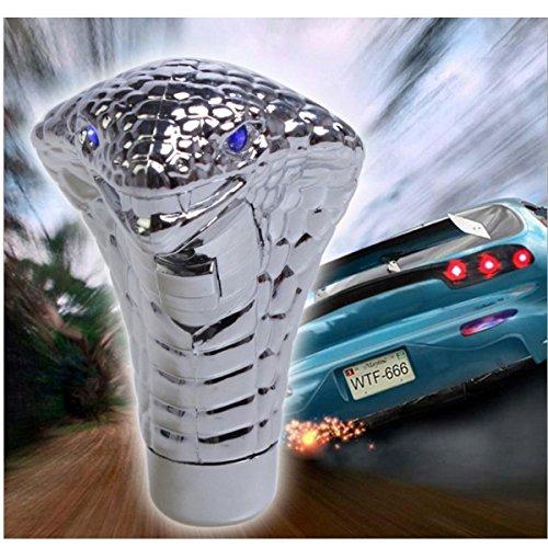 Car Cobra Head Gear Schaltknauf, Touch Aktiviert Ultra Blue Eye LED Licht, Griff Schalthebel Manuell / Automatik Schaltknauf Passt für die meisten Autos