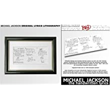 Bad. Original Lyrics Lithography: Michael Jackson: the Hand-written Lyrics.