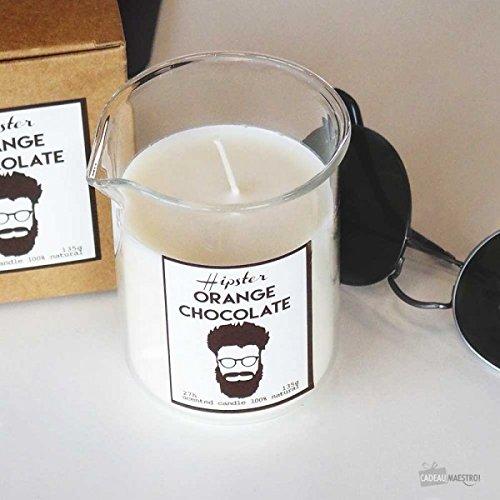 Bougie Hipster Chocolat et Orange - Cadeau Maestro