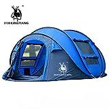 wirft Zelt im Freien automatischen Zelten werfen wasserdicht Pop-up-Zelt wasserdicht große Familienzelte Wandern