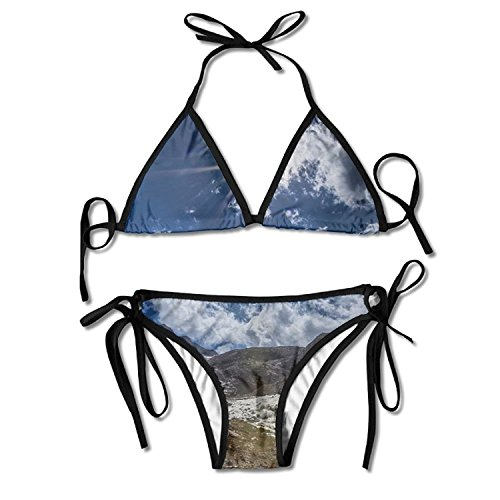 nuohaoshangmao Fashion Forest Mountain Panorama Padded Top Bottom Bikini Swiming Suit Two Piece Suits