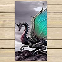 "Monicago Beach Towel, Bath Towel, Custom Ancient Dragon Pattern Hand Towel,Spa Towel,Beach Bath Towels,Bathroom Body Shower Towel Bath Wrap 31""x 51"" (80cm X 130cm)"
