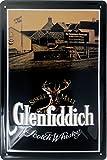 Glenfiddich Blechschild, Distillery 3D geprägtes Schild aus Metall, Original Single Malt Brand Nostalgic Retro Metal Plate, 20 x 30 cm