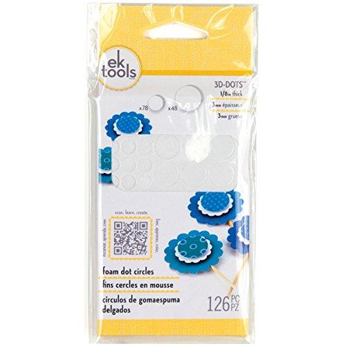 3D Dots Foam Dot Adhesive-White Circles .125