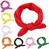 Bandas de pelo para niñas, bonitas diademas con nudo en forma de conejo, 8 unidades