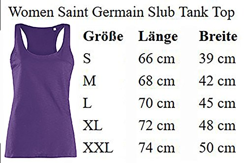 Ladies Damen Saint Germain Slub Tank Top Tanktop Sommertop Damentop Unicorn Einhorn cutie mit Brille Weiß