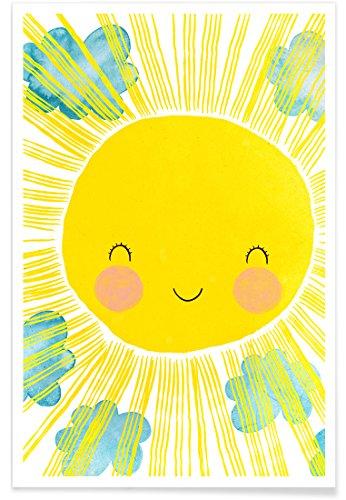 """JUNIQE® Poster 20x30cm Kinderzimmer & Kunst für Kinder - Design """"Matahari"""" (Format: Hoch) - Bilder, Kunstdrucke & Prints von unabhängigen Künstlern - Kinderbilder & Kunst für's Babyzimmer - entworfen von treechild"""