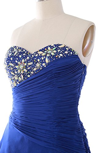 MACloth Women Strapless Short Prom Dress Tiered Cocktail Party Formal Gown Menthe