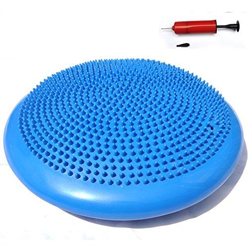 GEZICHTA aufblasbare Balance Disc, Fitness Trainer Wobble Pad Balance Stabilität Wobble Kissen–35,6cm rund für Therapie, Bewegung, Core Training, Sitze, Reha, blau