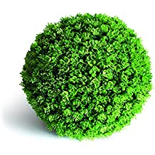 Esfera Decorativa Boj Otoñal, Verde, 28 cm altura, Catral 72050002