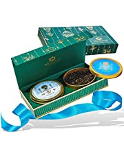 Vahdam Tea Master's Duo Best Tea Set of 2 Award Winning Tea Set Blends in A Presentation Box Oprah's Favorite Tea Brand Perfect for Men, 100 g