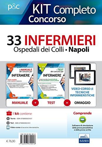 Concorso 33 infermieri Ospedali dei Colli, Napoli. Kit completo. Con aggiornamento online