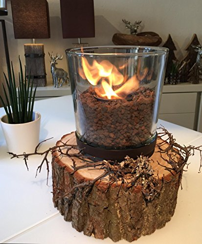 ANTARRIS Tischfeuer Tischkamin Bioethanol PERNOA Pino Wood Holzeiche Indoor & Outdoor
