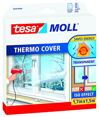 tesamoll® Thermo Cover Fensterisolierfolie (1,7 m x 1,5 m / 5er Pack)