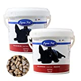 Lyra Pet Dog 2 x 600 g Strauß Softies im Eimer Hundesnack Leckerli Belohnung