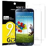 NEW'C Panzerglas Schutzfolie für Samsung Galaxy S4, [2 Stück] Frei von Kratzern Fingabdrücken und Öl, 9H Härte, HD Displayschutzfolie, DisplayschutzfoliekompatibelSamsung Galaxy S4