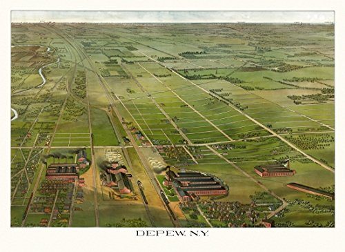 The Poster Corp Historic Map of Depew New York 1898 Erie County Kunstdruck (60,96 x 91,44 cm)