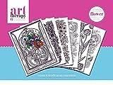 Art Therapy Blumen Colouring Poster zum Ausmalen im 6er Pack, 30x 40 cm