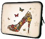 """Luxburg 13"""" pouces Housse Sacoche Pochette pour ordinateur portable / tablet - Papillons De Chaussures"""
