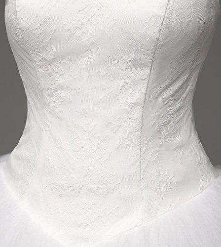 Beauty-Emily -  Vestito  - Reggiseno a fascia - Senza maniche  - Donna Bianco