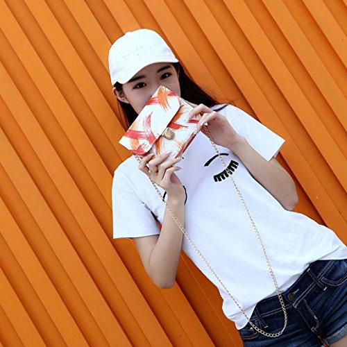 BZLine® Frauen Leder Crossbody-Schulter-Beutel-Handtaschen-kleine Körper-Beutel Orange