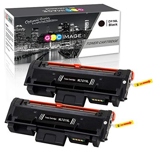 GPC Image Kompatibel Toner Patronen für Samsung D116L MLT-D116L (2 Schwarz) für Samsung Xpress SL M2835dw M2625d M2825nd M2885fw M2825dw M2675 M2675fn M2875fd M2626 M2626d M2676 M2676n M2676fh