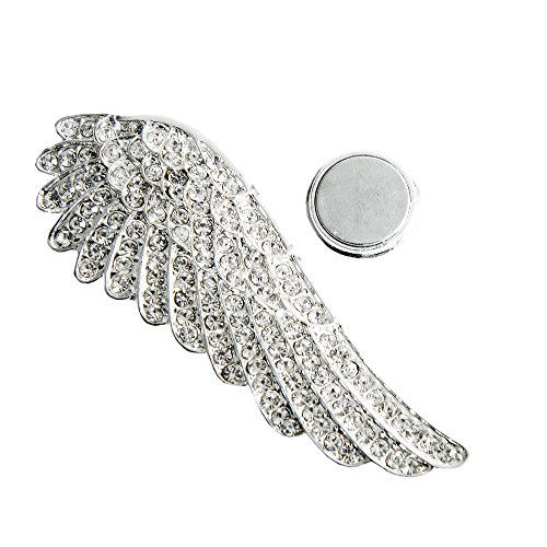 Kiss Me! Engelsrufer Flügel Strass Brosche Schal Bekleidung Handtasche Magnet Schalclip Höhe 4,5cm Breite 5,0cm