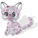 Shonyin Cat Brooch Cute Fashion Jewelry Gift For Women Teen Little Girls