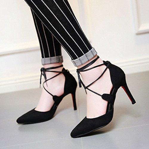 WYWQ Scarpe da festa a scamosciato grandi dimensioni scarpe a quattro zampe da sci black